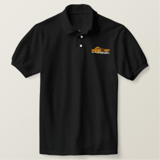 Camisa Polo Bordada Logotipo urgente da fúria com globo