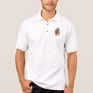 Camisa Polo Caça africana da lança do guerreiro com desenho do