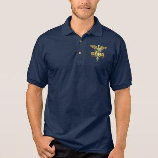 Camisa Polo Caduceus do ouro (CRNA)