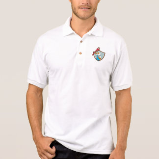 Camisa Polo Canalizador de Eagle que levanta acima desenhos