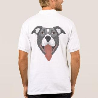 Camisa Polo Cão Pitbull de sorriso da ilustração