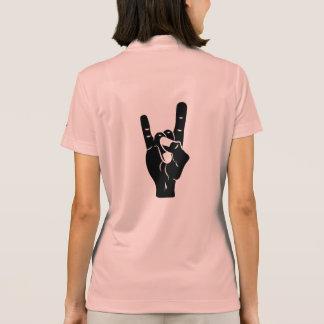 Camisa Polo Chifres do diabo do rolo da rocha n