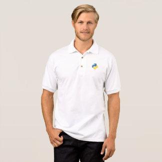 Camisa Polo Codificador puro do pitão - geek em t-shirt