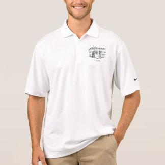 Camisa Polo Competiam Golfing do jogador de golfe do vintage