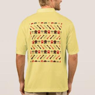 Camisa Polo Crânio cómico com teste padrão colorido dos ossos