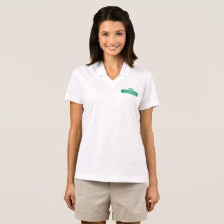 Camisa Polo Das mulheres de ondulação do logotipo de Peachtree