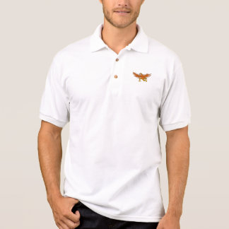 Camisa Polo Desenhos animados de Eagle de propagação de Lleu