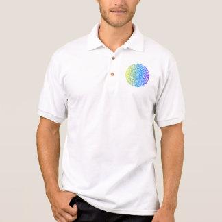 Camisa Polo Design floral étnico abstrato colorido da mandala