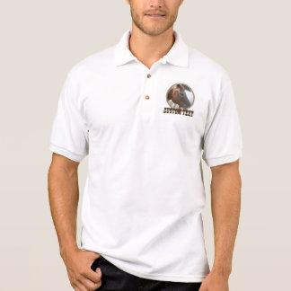 Camisa Polo Design ocidental do quadro da foto da corda do