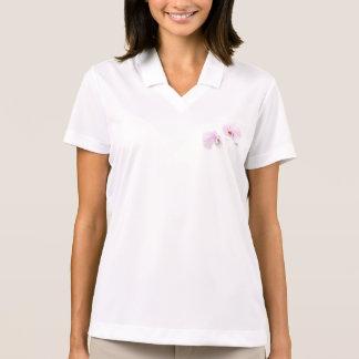 Camisa Polo Duo da flor do bordo de Hilo do Phalaenopsis