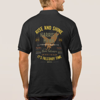 Camisa Polo É tempo da falcoaria! Pólo do falcão de Harris