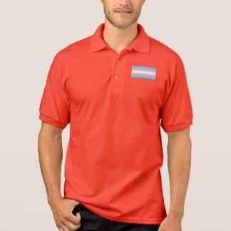 Camisa Polo Emblema pequeno da bandeira do orgulho do