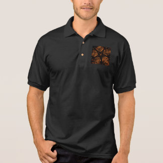 Camisa Polo Estrela Kaleidoscopic escura elegante de Brown do