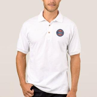Camisa Polo Estrelas 2016 e círculos do crachá das máquinas de