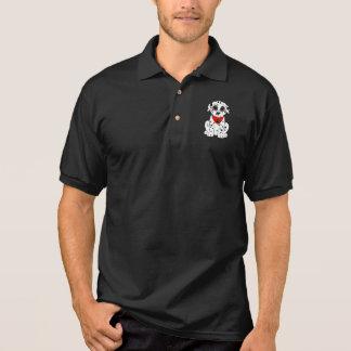 Camisa Polo Filhote de cachorro Dalmatian com o nariz