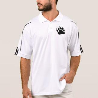 Camisa Polo Garra de urso do orgulho do urso preto (L)