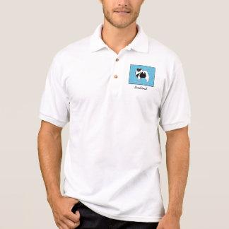 Camisa Polo Gráficos do Keeshond com palavras