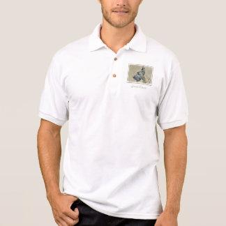 Camisa Polo Great dane (rajado) que pinta - arte original do