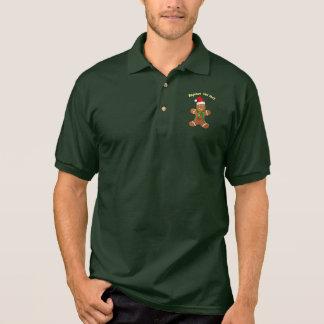 Camisa Polo Homem de pão-de-espécie bonito com um chapéu