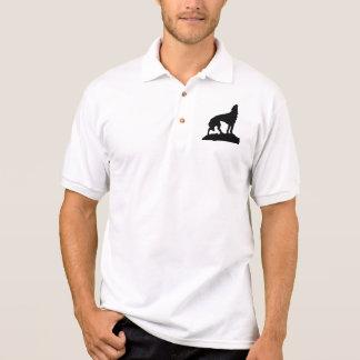 Camisa Polo Homens Shirt - lobo Ululante