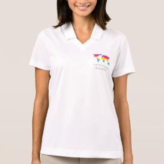 Camisa Polo Hoodie do mapa do mundo do orgulho de Pansexuality