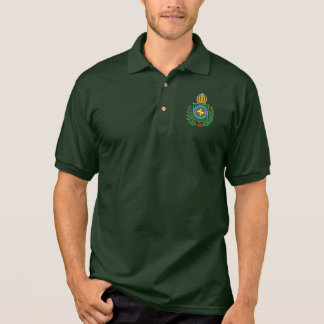 Camisa Polo Império do pólo do emblema de Brasil