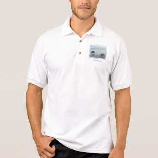Camisa Polo Keeshonds no litoral