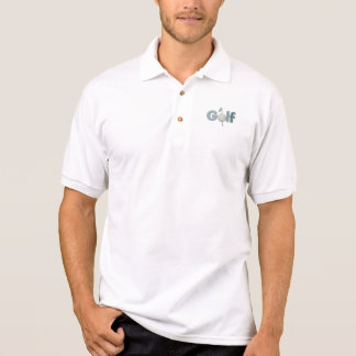 Camisa Polo Logotipo do golfe com design do bolso dos esportes
