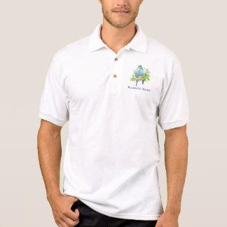 Camisa Polo Logotipo feito sob encomenda, papagaio tropical -