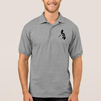 Camisa Polo Mapa filipino preto