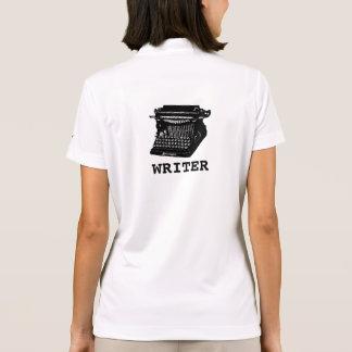 Camisa Polo Máquina de escrever antiga do escritor