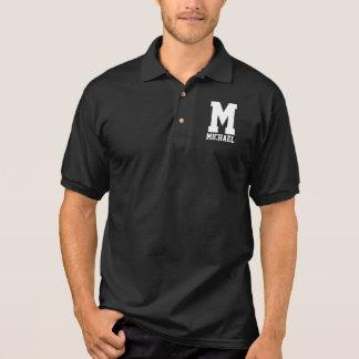 Camisa Polo Monograma personalizado do Letterman