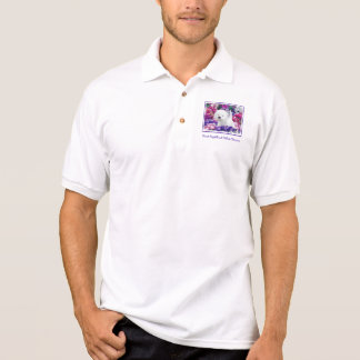 Camisa Polo Montanhas Terrier branco ocidentais