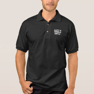 Camisa Polo Morte ao pólo do café dos zombis