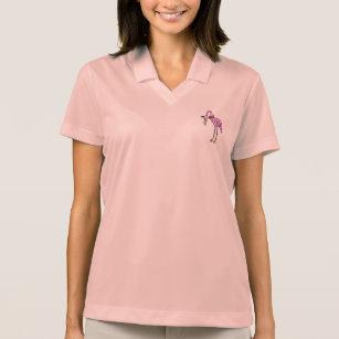 """Camisa Polo Mulheres Shirt rosa """"flamingo """""""