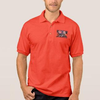 Camisa Polo O Dia das Bruxas LabraDoodle Gabe - border collie