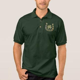 Camisa Polo O pólo dos homens afortunados da ferradura e do