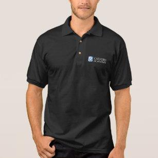 Camisa Polo O pólo preto dos homens da academia de Calvert e4570e0feda47