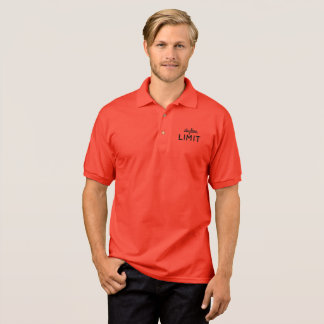 Camisa Polo O pólo vermelho dos homens do limite da skyline
