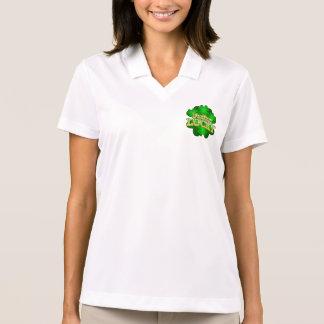 Camisa Polo O t-shirt colarinho branco das mulheres