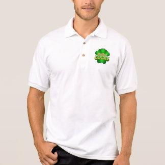 Camisa Polo O t-shirt colarinho branco dos homens afortunados