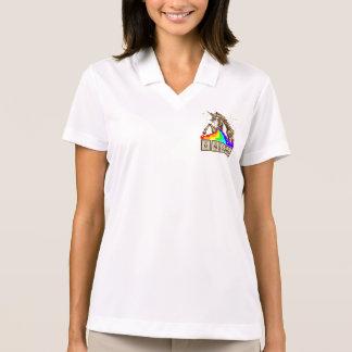 Camisa Polo O unicórnio da química pukes o arco-íris