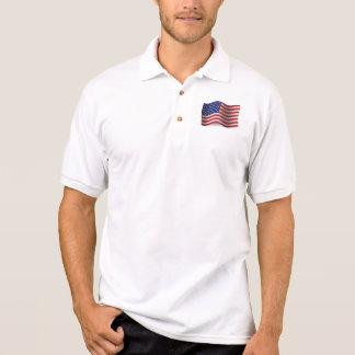 Camisa Polo Os Estados Unidos que acenam a bandeira