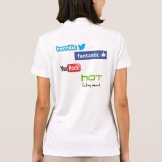Camisa Polo Os hoodies finais da menina do geek