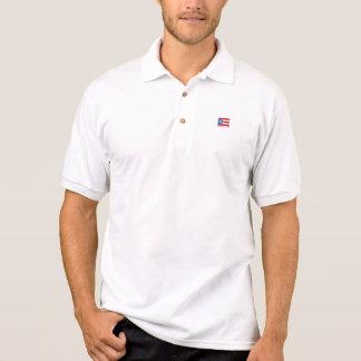 Camisa Polo Personalizado, bandeira de Puerto Rico