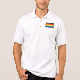 Camisa Polo Philly expandiu o emblema do arco-íris da bandeira