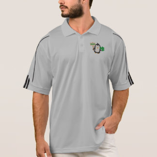 Camisa Polo Pinguim irlandês com trevo Zjib4
