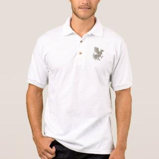 Camisa Polo Polígono do símbolo de Cuauhtli Glifo Eagle baixo