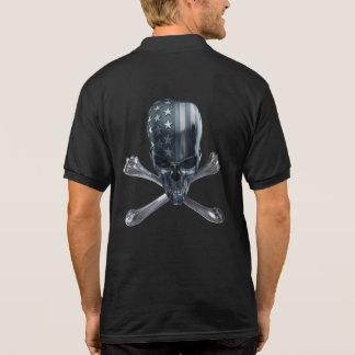 Camisa Polo Pólo americano do crânio