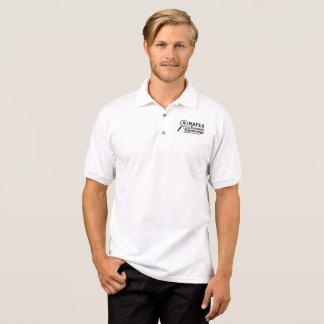 Camisa Polo Pólo branco com logotipo de NAFEA